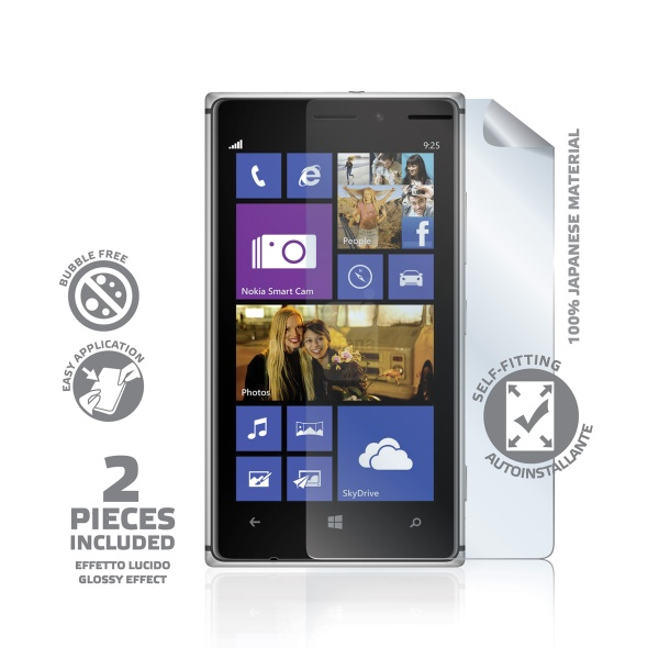 Prémiová ochranná fólie displeje CELLY pro Nokia Lumia 925, lesklá, 2ks
