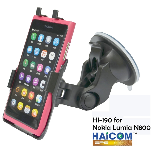 HAICOM flexibilní rameno s přísavkou + držák pro Nokia Lumia 800