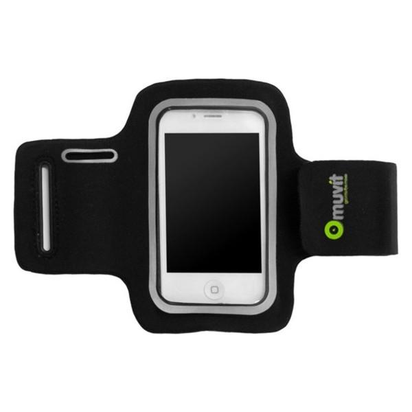 Pouzdro Neoprénové MUVIT pro iPhone a telefony podobných rozměrů, černé