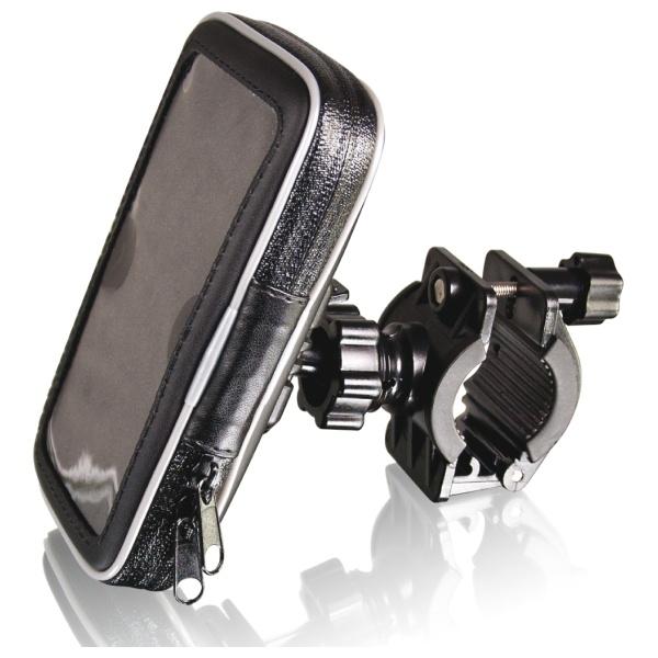 Voděodolný držák Fontastic pro telefony k upevnění na řídítka