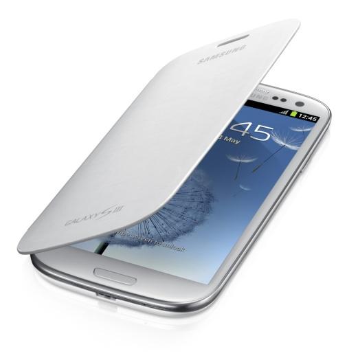 Pouzdro Samsung Flip zadní kryt EFC-1G6FWE Galaxy S III i9300 Marble White