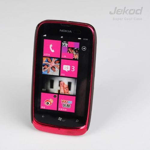 Plastové pouzdro na mobil JEKOD Super Cool Nokia Lumia 610 hnědé