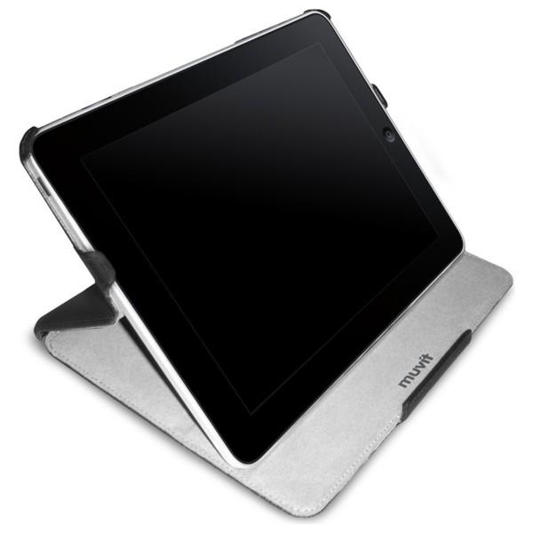 Muvit pro iPad z Eko kůže - pouzdro + stojánek + ochranná fólie na displej