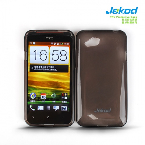 Pouzdro JEKOD TPU HTC Desire VC DUAL SIM silikonové, černé