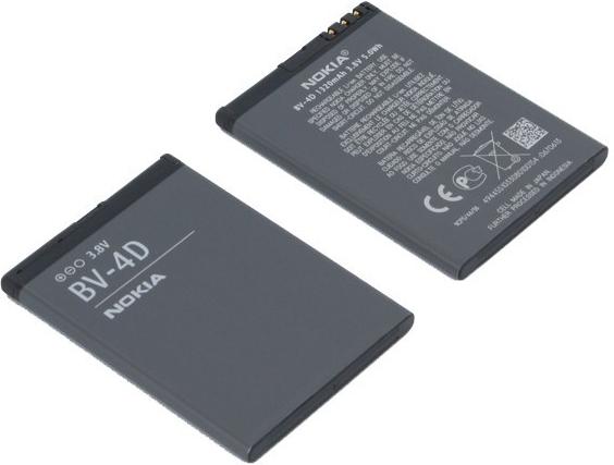 Originální baterie Nokia BV-4D pro N9 Li-Ion 1320 mAh (bulk)