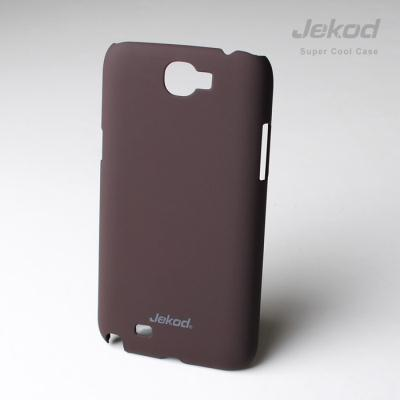 Pouzdro na mobil JEKOD Super Cool Samsung Galaxy Note II N7100 hnědé