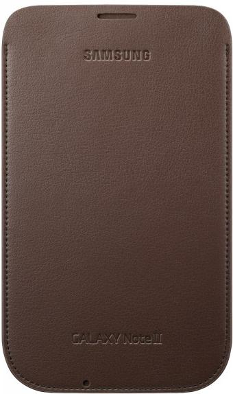 Kožené pouzdro Samsung EFC-1J9LCE Galaxy Note 2 N7100 Choco Brown