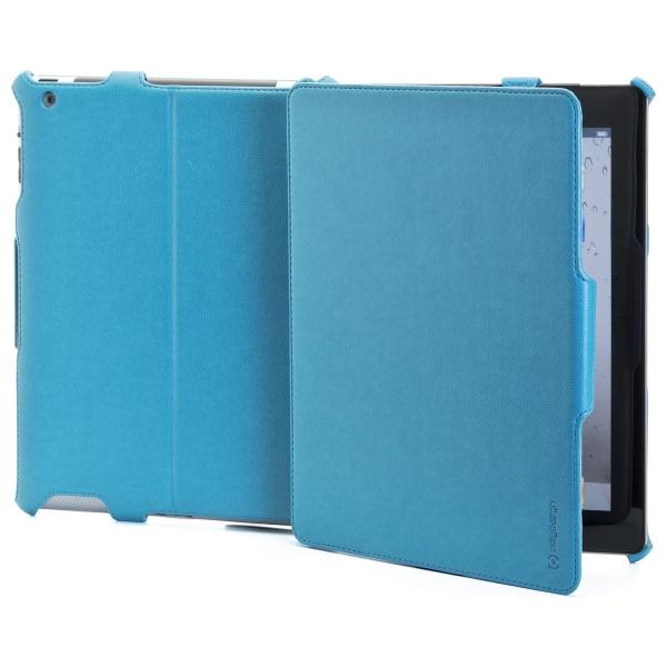 Ochranné pouzdro CELLY BOOKTAB se stojánkem pro Apple iPad 4 z kolekce Ristretto, PU kůže, tyrkysové