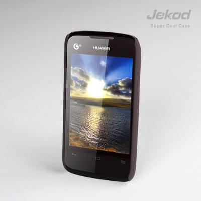 Ochranné pouzdro na mobil JEKOD Super Cool Huawei Y200T Ascend hnědé + ochranná folie