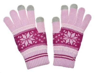 Dámské rukavice na dotykový displej NORDIC pink