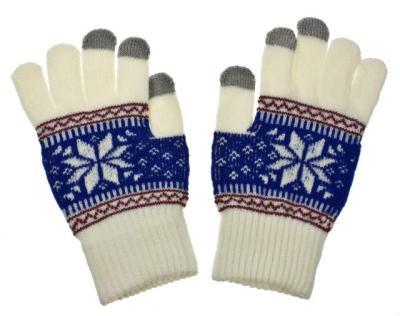 Dámské rukavice na dotykový displej NORDIC white