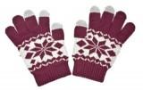 Dámské rukavice na dotykový displej NORDIC red