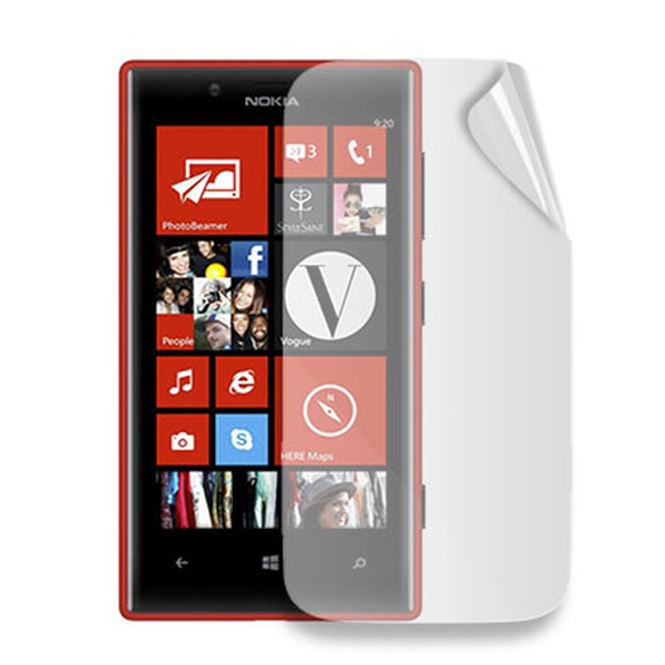 Ochranná folie displeje CELLY Screen Protector pro Nokia Lumia 720, lesklá, 2 ks v balení