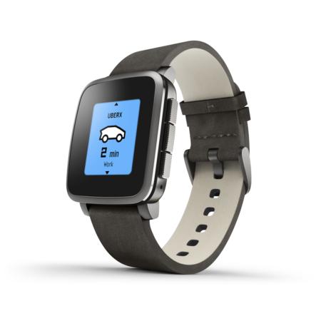 Chytré hodinky Pebble Time Steel Smartwatch, černé