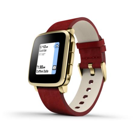 Chytré hodinky Pebble Time Steel Smartwatch, zlaté
