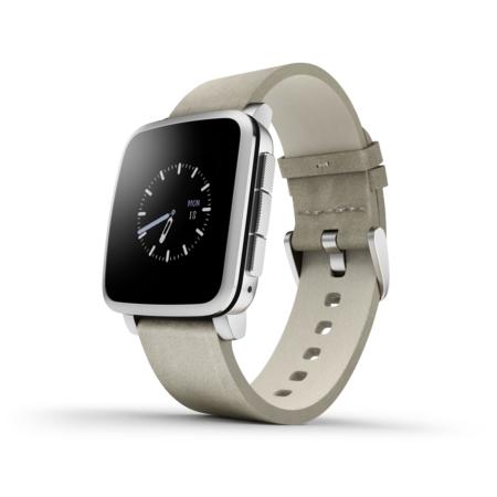 Chytré hodinky Pebble Time Steel Smartwatch, stříbrné