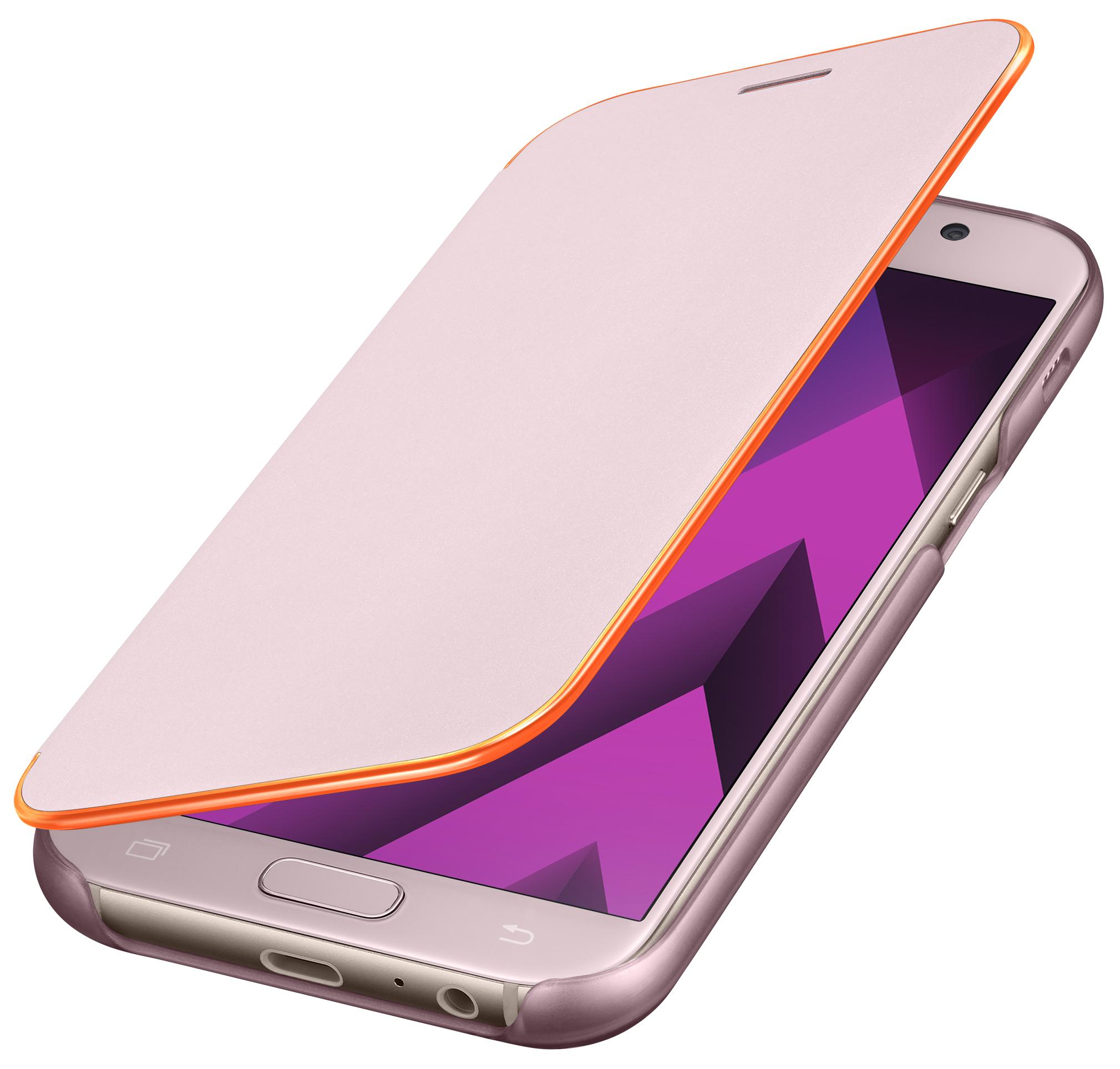 Samsung Flipové neonové pouzdro pro A5 2017 Pink
