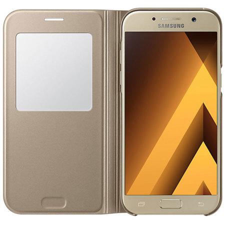 Samsung Flipové pouzdro S View pro A5 2017 Gold