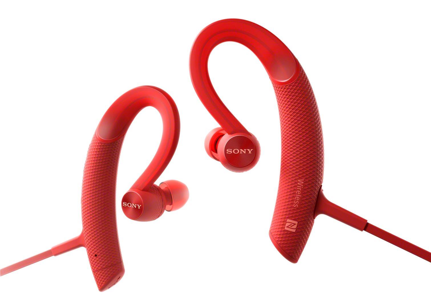 Sony Sluchátka Active MDR-XB80BS Handsfree Red