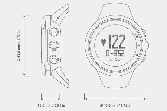 Suunto M2 Men sportovní hodinky černé