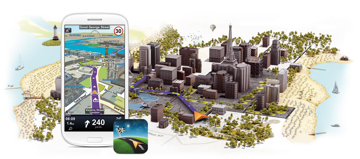 Sygic GPS Navigation - Evropa